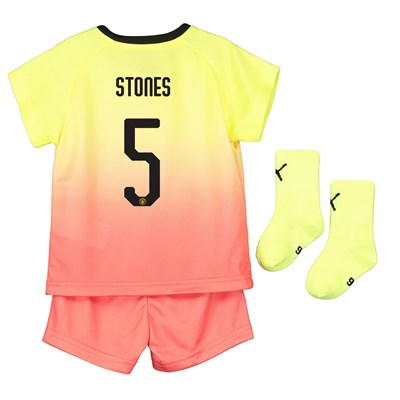Manchester City Cup Third Baby Kit 2019-20 with Stones 5 printing