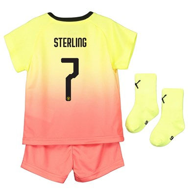 Manchester City Cup Third Baby Kit 2019-20 with Sterling 7 printing