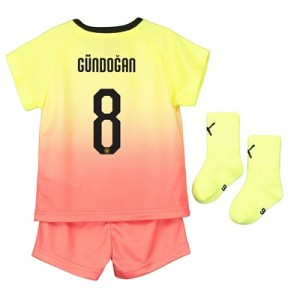 Manchester City Cup Third Baby Kit 2019-20 with Gündogan 8 printing