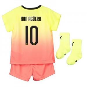 Manchester City Cup Third Baby Kit 2019-20 with Kun Agüero  10 printing