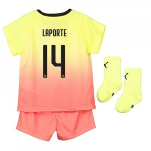 Manchester City Cup Third Baby Kit 2019-20 with Laporte 14 printing