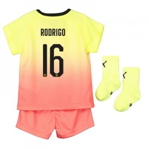Manchester City Cup Third Baby Kit 2019-20 with Rodrigo 16 printing