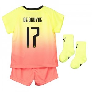 Manchester City Cup Third Baby Kit 2019-20 with De Bruyne 17 printing