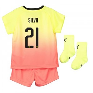 Manchester City Cup Third Baby Kit 2019-20 with Silva 21 printing