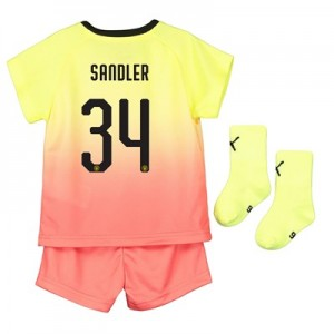 Manchester City Cup Third Baby Kit 2019-20 with Sandler 34 printing