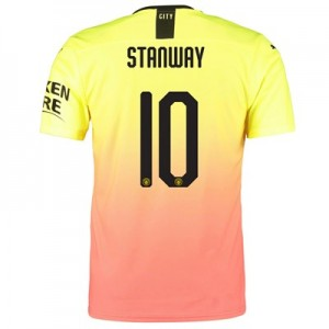 Manchester City Authentic Cup Third Shirt 2019-20 with Stanway 10 printing