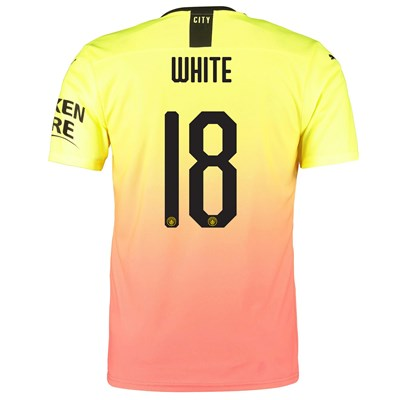 Manchester City Authentic Cup Third Shirt 2019-20 with White 18 printing