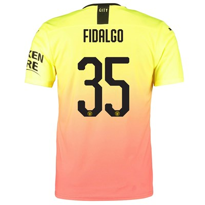 Manchester City Authentic Cup Third Shirt 2019-20 with Fidalgo 35 printing