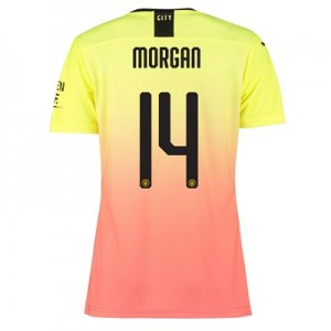Manchester City Authentic Cup Third Shirt 2019-20 - Womens with Morgan 14 printing