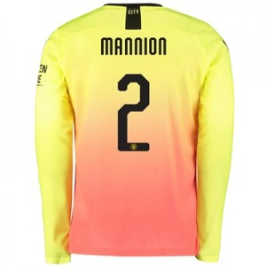 Manchester City Cup Third Shirt 2019-20 - Long Sleeve with Mannion 2 printing