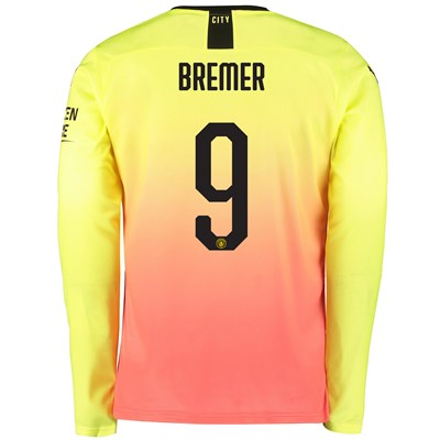 Manchester City Cup Third Shirt 2019-20 - Long Sleeve with Bremer 9 printing