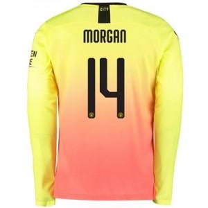 Manchester City Cup Third Shirt 2019-20 - Long Sleeve with Morgan 14 printing