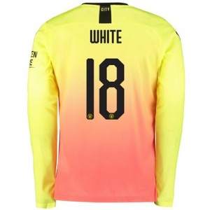 Manchester City Cup Third Shirt 2019-20 - Long Sleeve with White 18 printing