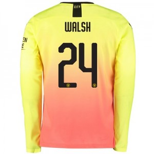 Manchester City Cup Third Shirt 2019-20 - Long Sleeve with Walsh 24 printing