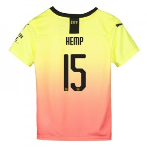 Manchester City Cup Third Shirt 2019-20 - Kids with Hemp 15 printing