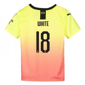 Manchester City Cup Third Shirt 2019-20 - Kids with White 18 printing
