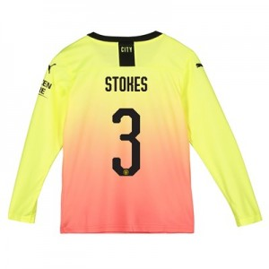 Manchester City Cup Third Shirt 2019-20 - Long Sleeve - Kids with Stokes 3 printing