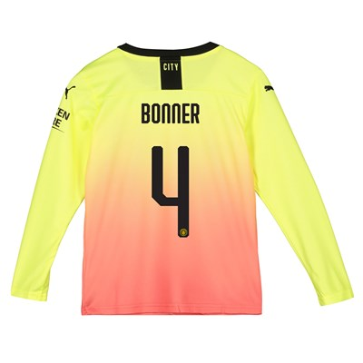 Manchester City Cup Third Shirt 2019-20 - Long Sleeve - Kids with Bonner 4 printing