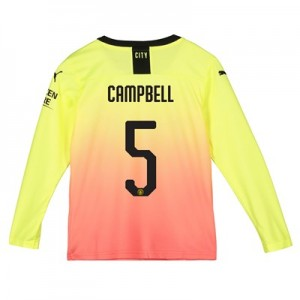 Manchester City Cup Third Shirt 2019-20 - Long Sleeve - Kids with Campbell 5 printing