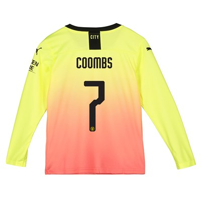 Manchester City Cup Third Shirt 2019-20 - Long Sleeve - Kids with Coombs 7 printing