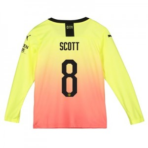 Manchester City Cup Third Shirt 2019-20 - Long Sleeve - Kids with Scott 8 printing