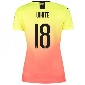 Manchester City Cup Third Shirt 2019-20 - Womens with White 18 printing
