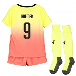 Manchester City Cup Third Mini Kit 2019-20 with Bremer 9 printing