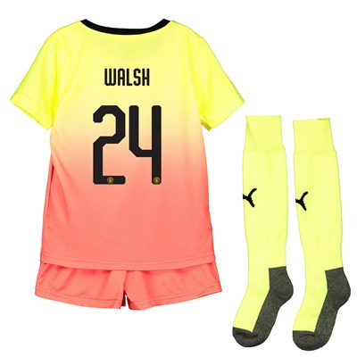 Manchester City Cup Third Mini Kit 2019-20 with Walsh 24 printing