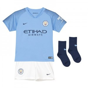 Manchester City Home Stadium Kit 2018-19 - Little Kids
