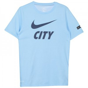 Manchester City Pre Season T-Shirt - Light Blue - Kids