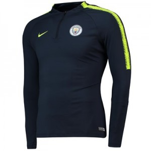 Manchester City Squad Drill Top - Navy - Womens