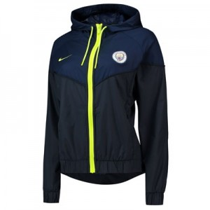 Manchester City Windrunner Jacket - Dark Blue - Womens