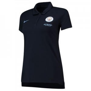 Manchester City Travel Polo - Dark Blue - Womens