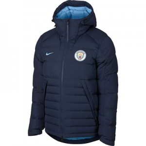 Manchester City Core Hooded Down Jkt - Dark Blue