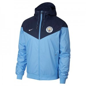 Manchester City Authentic Windrunner - Light Blue