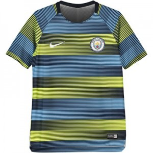 Manchester City Pre Match Top - Yellow - Kids
