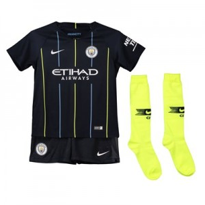 Manchester City Away Stadium Kit 2018-19 - Little Kids