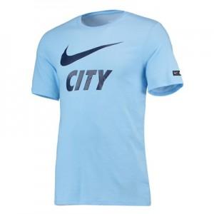 Manchester City Pre Season T-Shirt - Light Blue