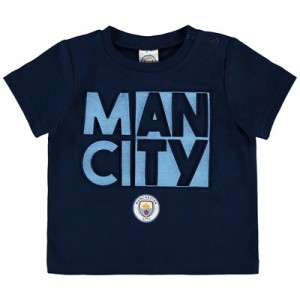 Manchester City Infant Split Man City T Shirt - Navy - Boys