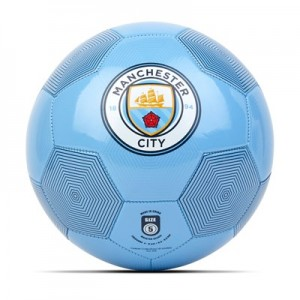 Manchester City Size 5 Linear Football - Sky