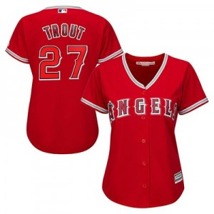 Los Angeles Angels of Anaheim Mike Trout Majestic Alternate Cool Base Replica Player Jersey - Womens