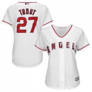 Los Angeles Angels of Anaheim Mike Trout Majestic Home Cool Base Replica Player Jersey - Womens