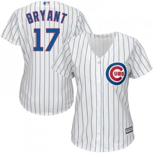 Chicago Cubs Kris Bryant Majestic Home Cool Base Replica Player Jersey - Womens