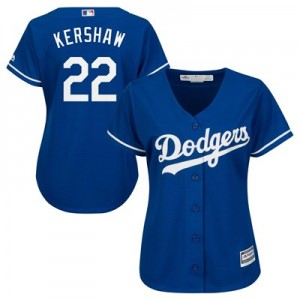 Los Angeles Dodgers Clayton Kershaw Majestic Alternate Cool Base Replica Player Jersey - Womens
