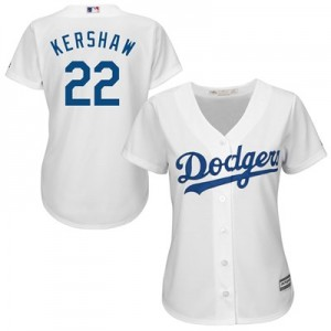 Los Angeles Dodgers Clayton Kershaw Majestic Home Cool Base Replica Player Jersey - Womens
