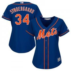 New York Mets Noah Syndergaard Majestic Alternate Cool Base Replica Player Jersey - Womens
