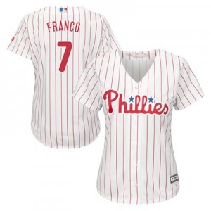Philadelphia Phillies Maikel Franco Majestic Home Cool Base Replica Player Jersey - Womens