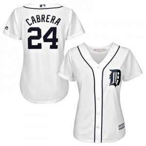 Detroit Tigers Miguel Cabrera Majestic Home Cool Base Replica Player Jersey - Womens