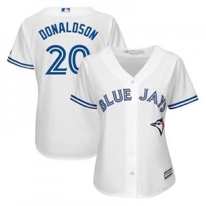 Toronto Blue Jays Josh Donaldson Majestic Home Cool Base Replica Player Jersey - Womens