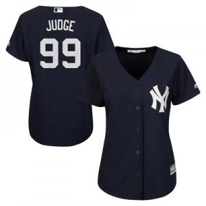 New York Yankees Aaron Judge Majestic Alternate Cool Base Replica Player Jersey - Womens